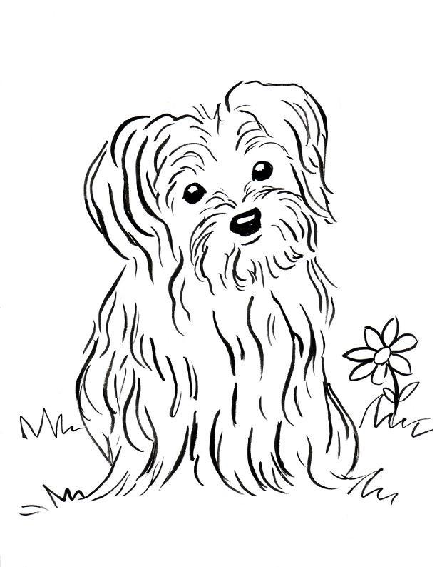 Puppy Coloring Page Samantha Bell