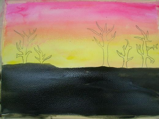 Paint A Sunset In Watercolor