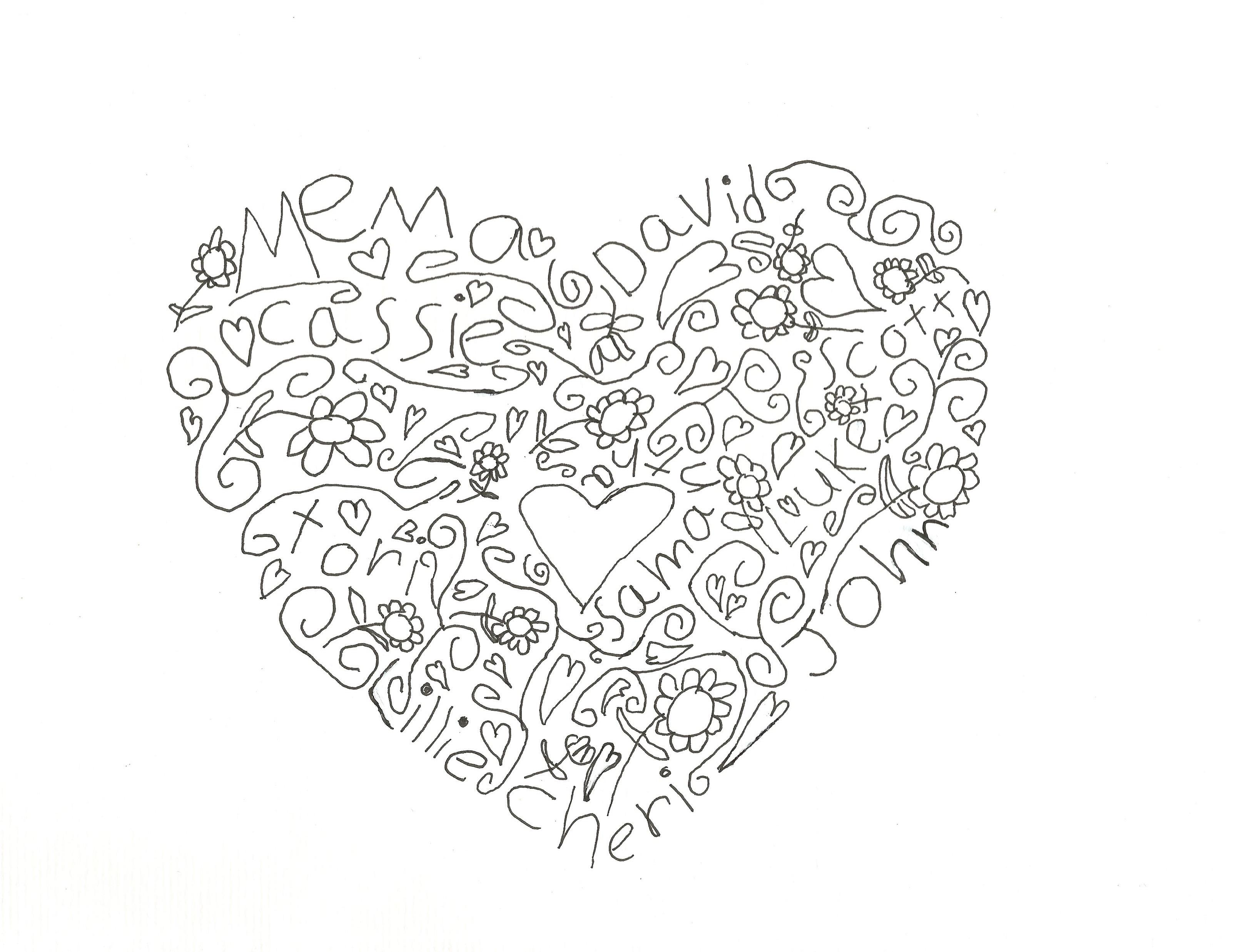 Valentine calligraphy samantha bell