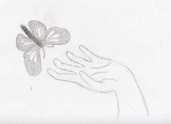 Line Art Hand : Contour hand drawing samantha bell