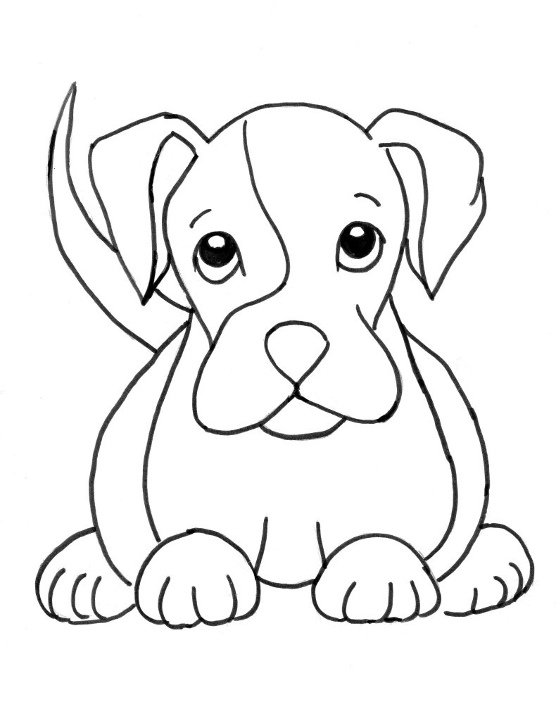 Boxer Puppy Coloring Page - Art Starts for Kids