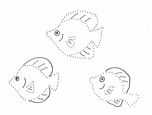 fish dot drawing