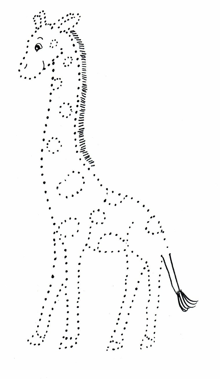 Giraffe Dot Drawing Samantha Bell