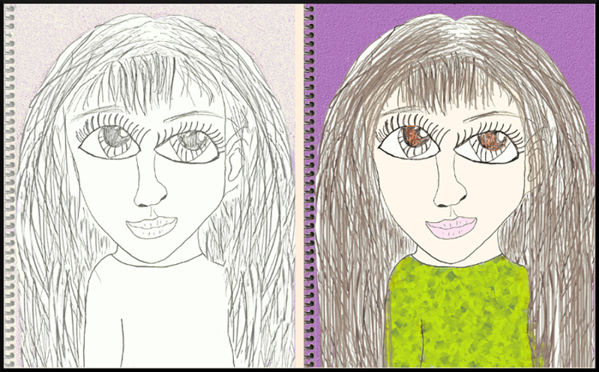 Your Art 8 Year Old Me Self Portrait Samantha Bell