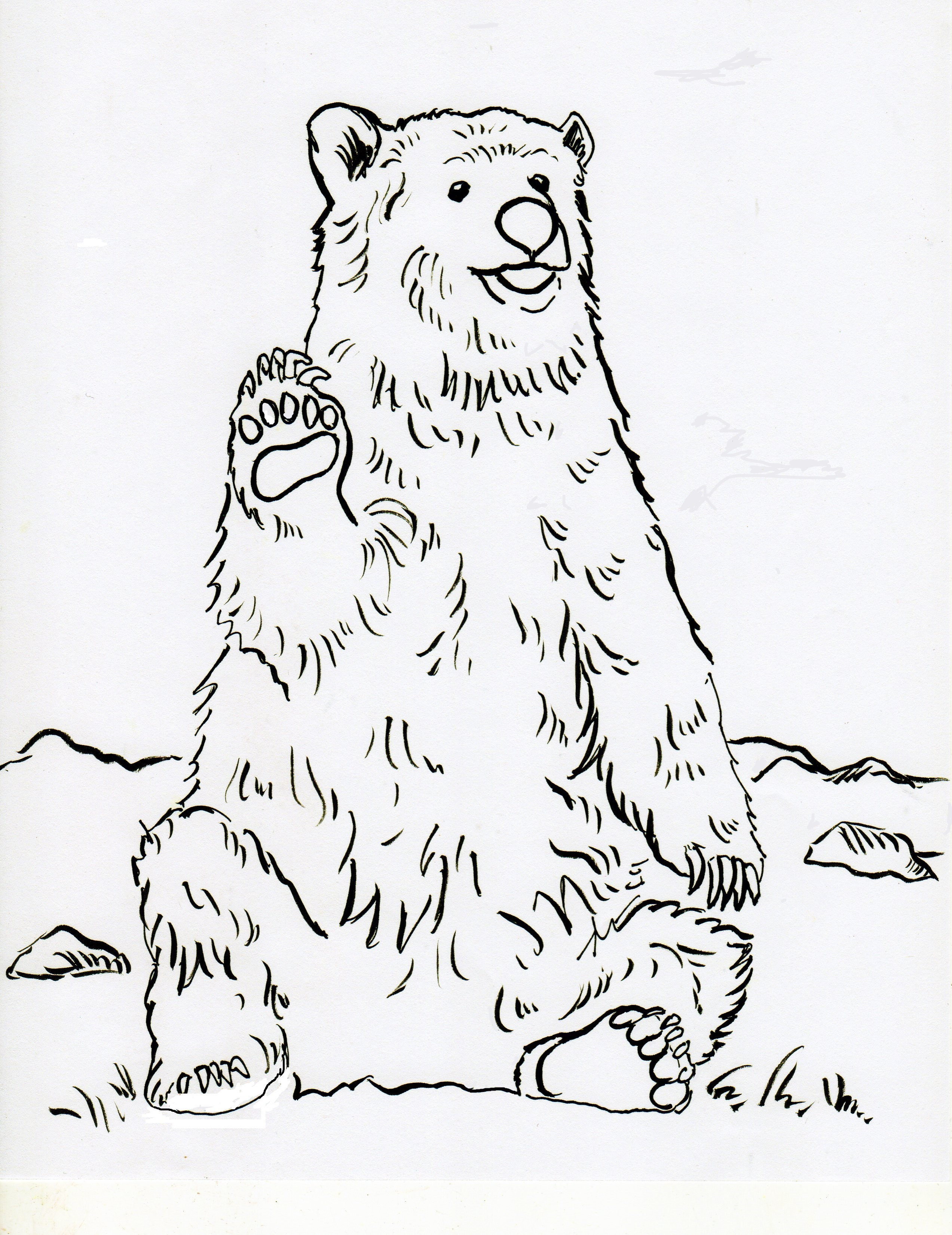 grizzly bear coloring page - Grizzly Bear Coloring Pages