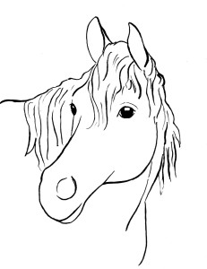 horse coloring page 3