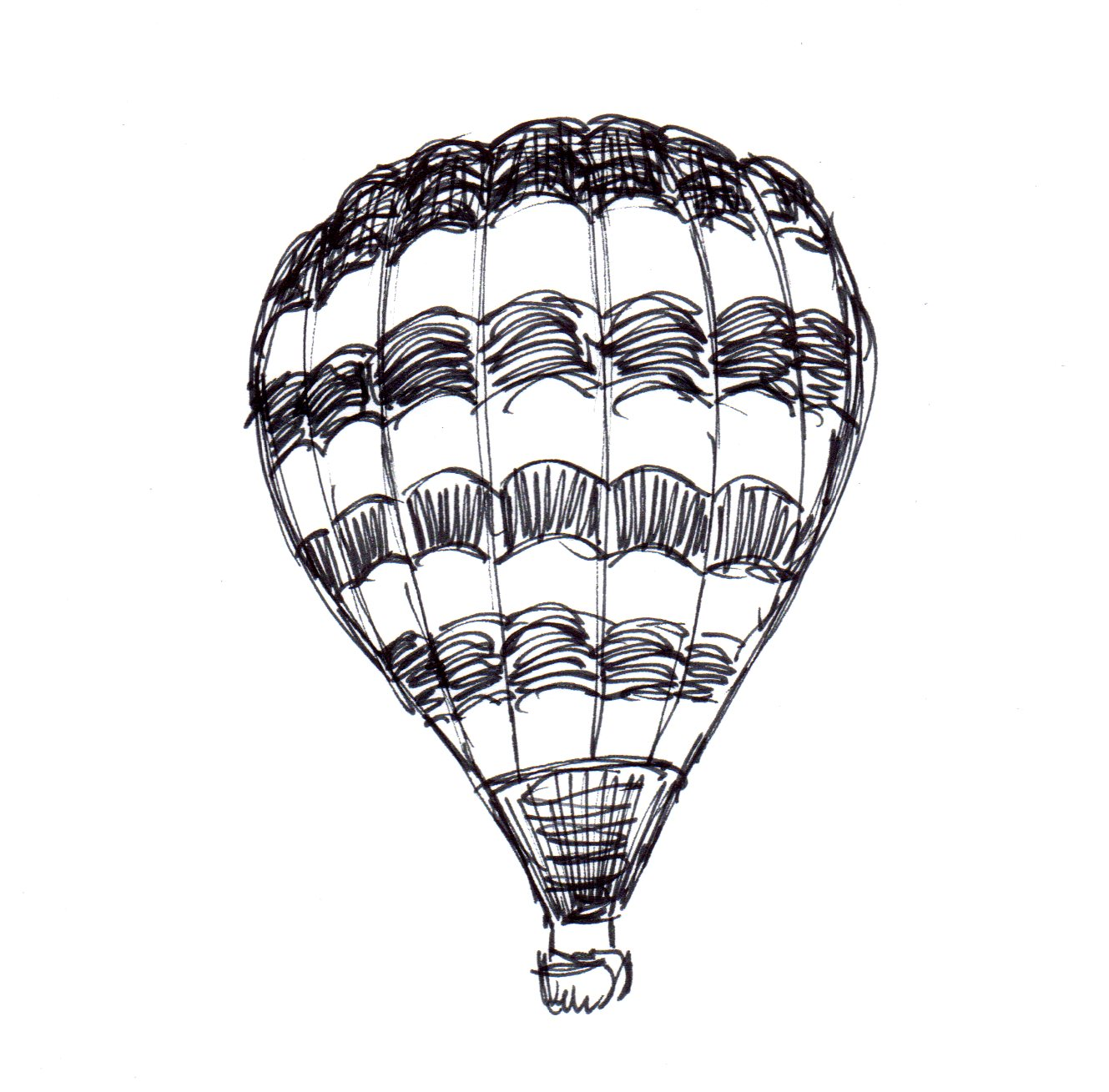 hot air balloon sketches wwwimgkidcom the image kid