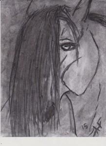 Charcoal HORSE DRAIWNG 001