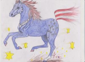 FLAG HORSE 001