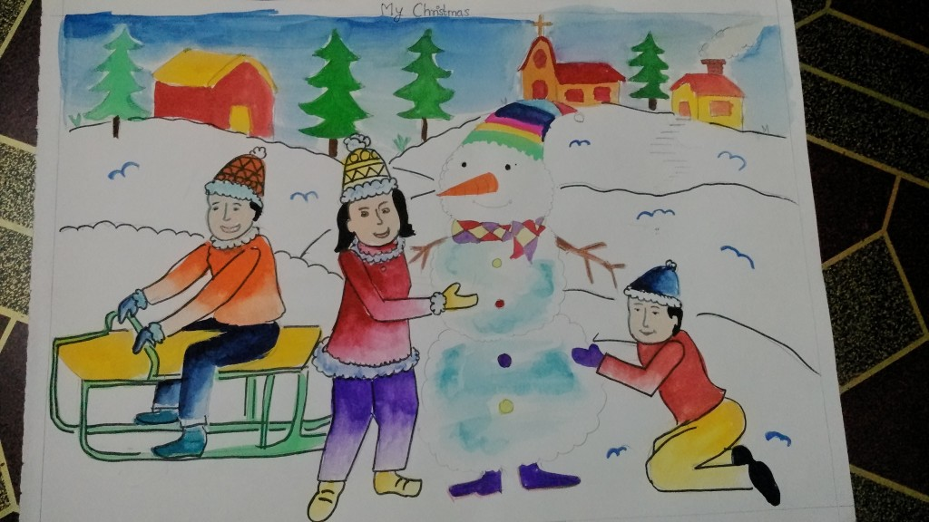 Contest Entry My Christmas Art Starts For Kids