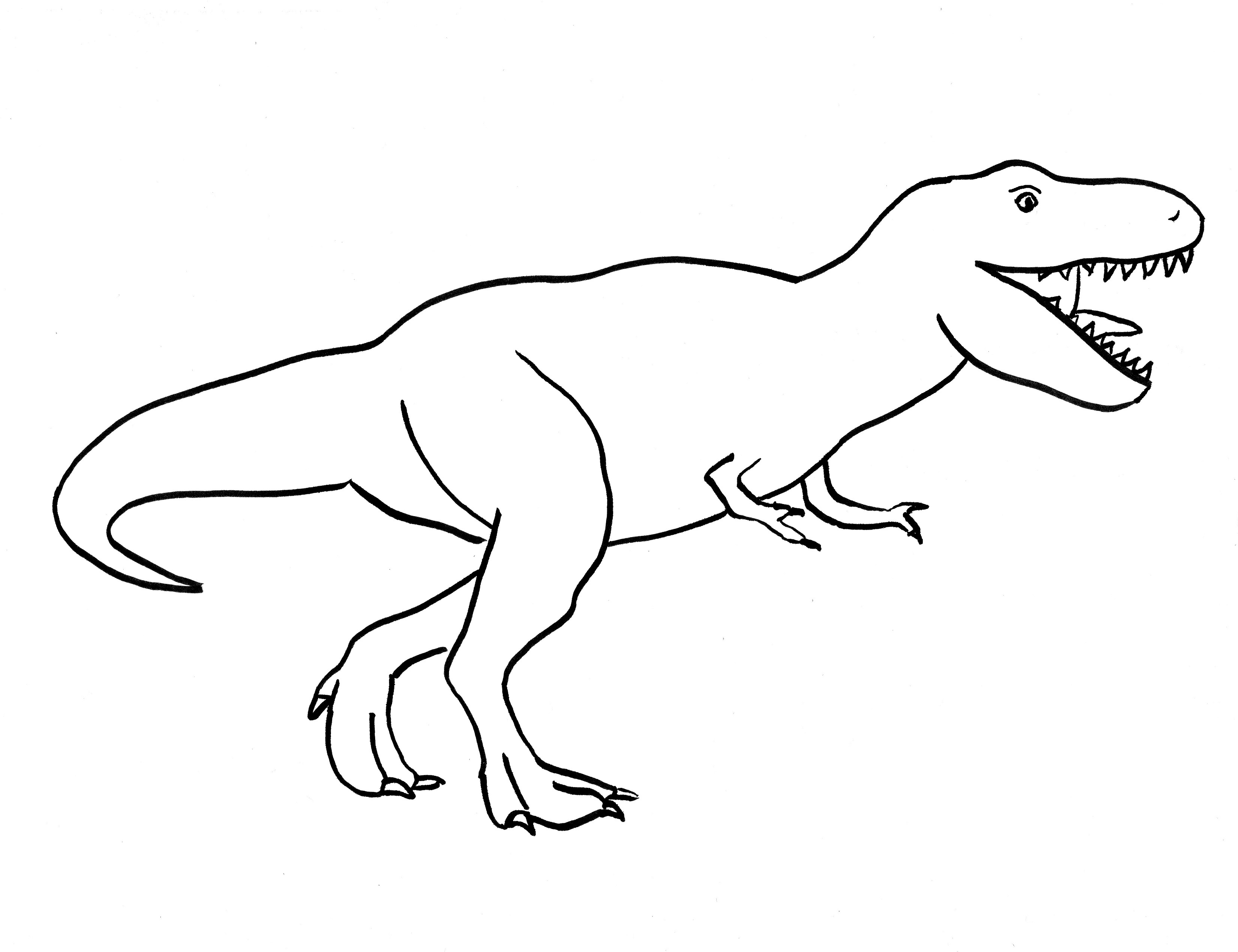 T rex drawing step by step art starts for kids