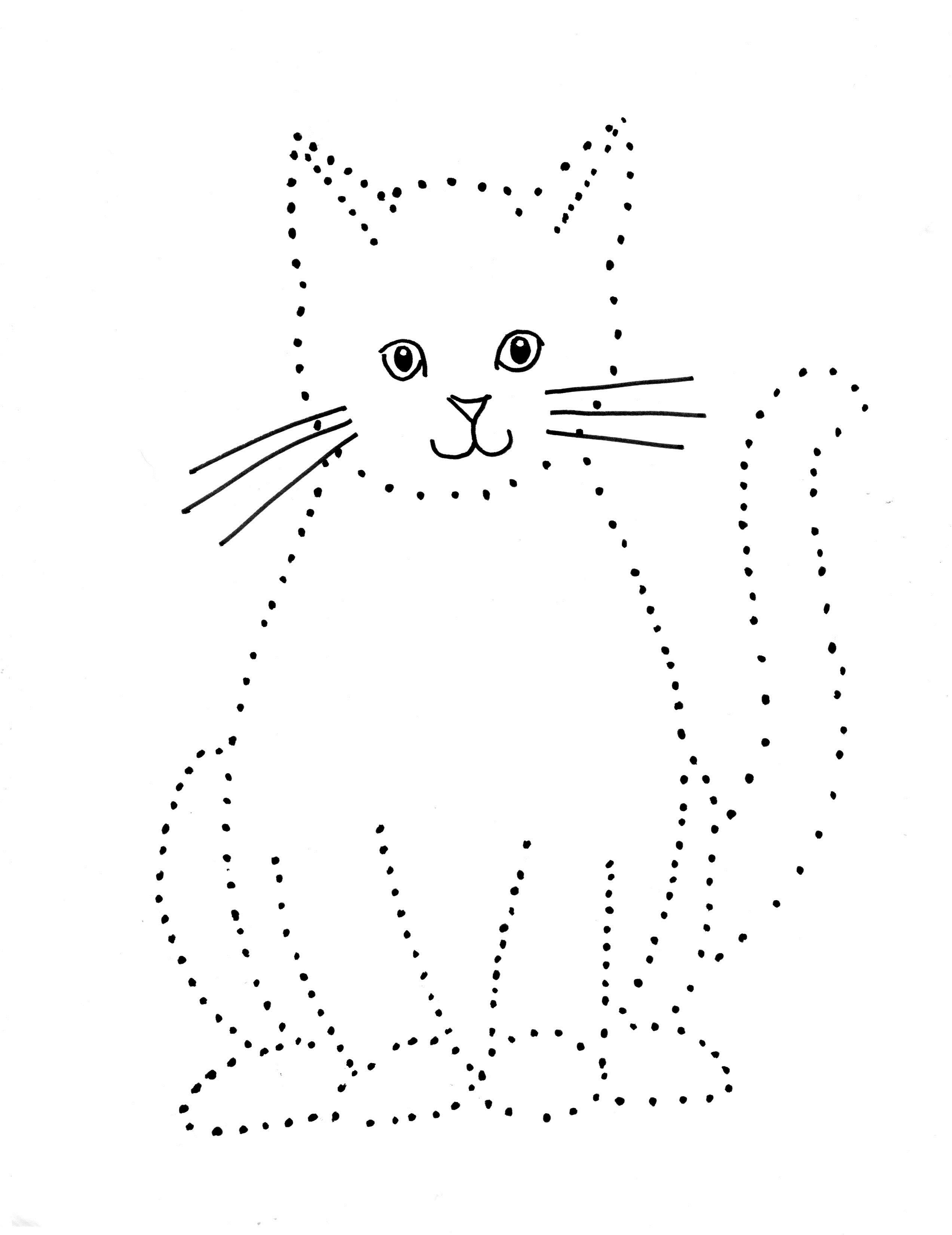 Cat Dot Drawing Samantha Bell