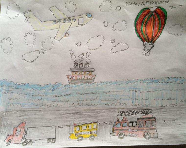 June Challenge Entry: Mode of Transportation - Art Starts for Kids