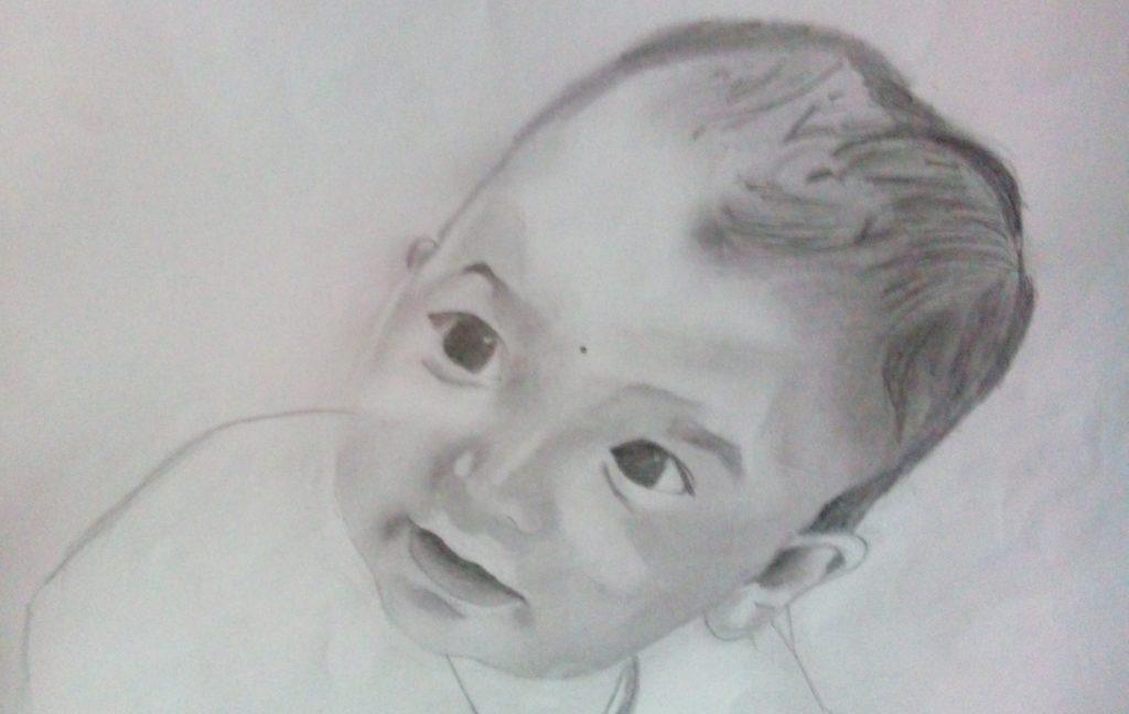 Sketch by Swarangi, Age-14, India