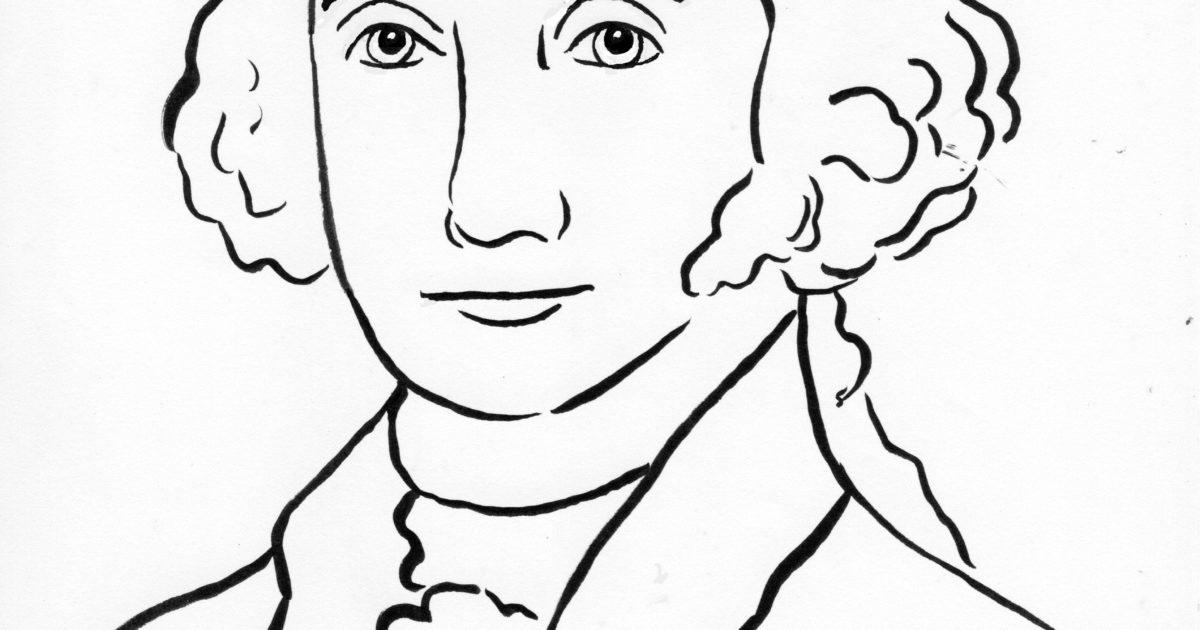 George washington coloring page samantha bell for George washington coloring pages