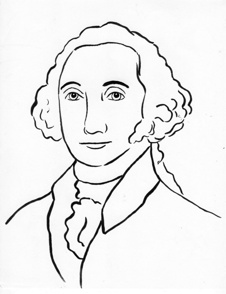 George Washington Coloring Page Samantha Bell