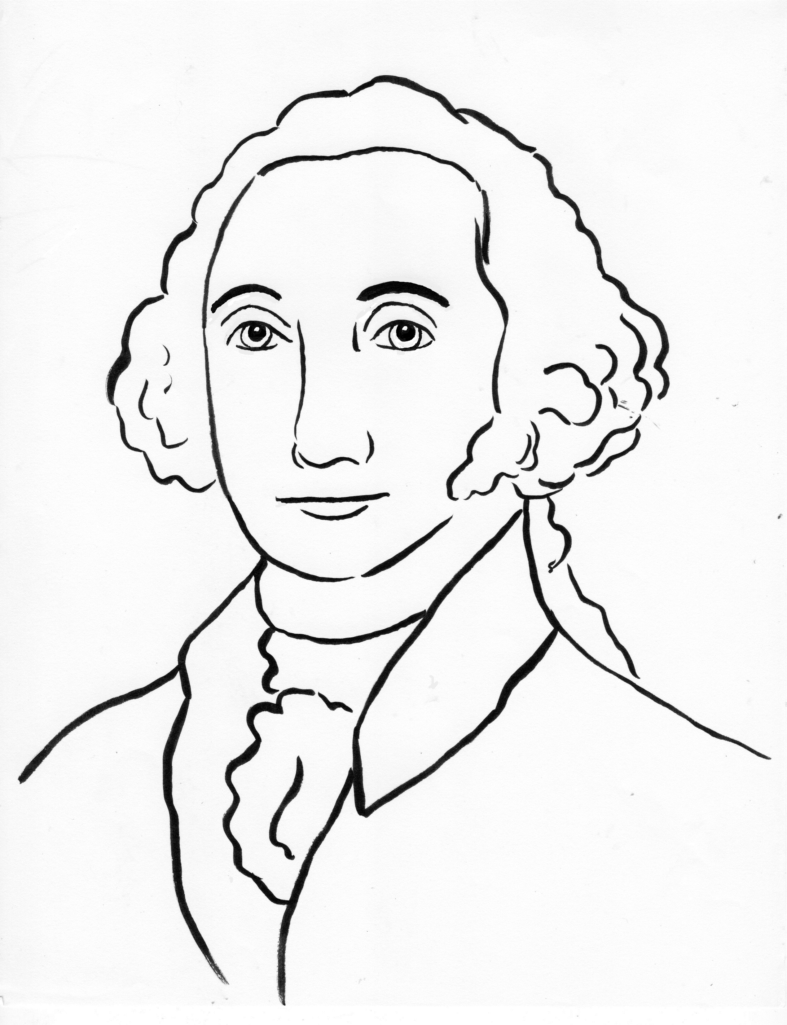 George Washington Coloring Page Art Starts For Kids