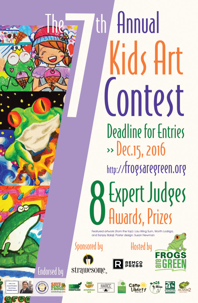 Poster design contest 2016 - The 7th Annual Frogs Are Green Art Contest Is For Kids All Around The World Ages 3 17 From The Contest Website Calling All Children Ages 3 17