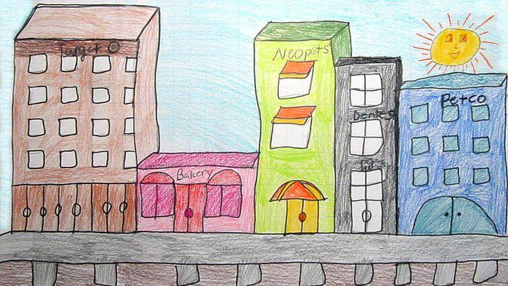 Kid S Drawing Of A School Building
