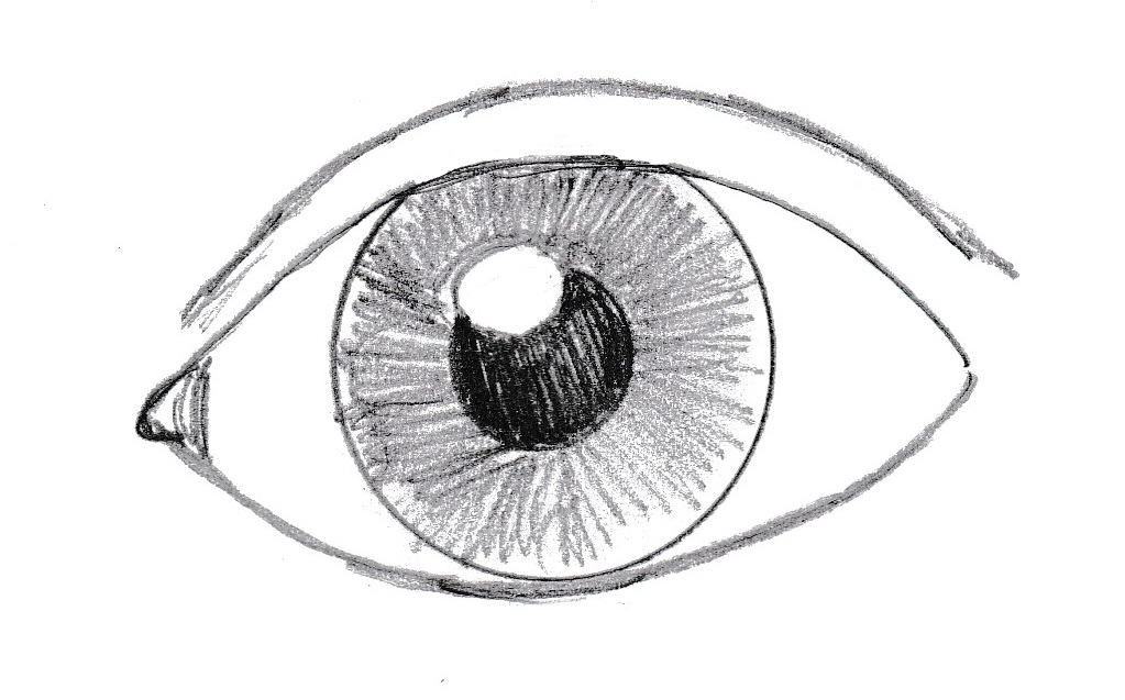 how to draw an eye samantha bell