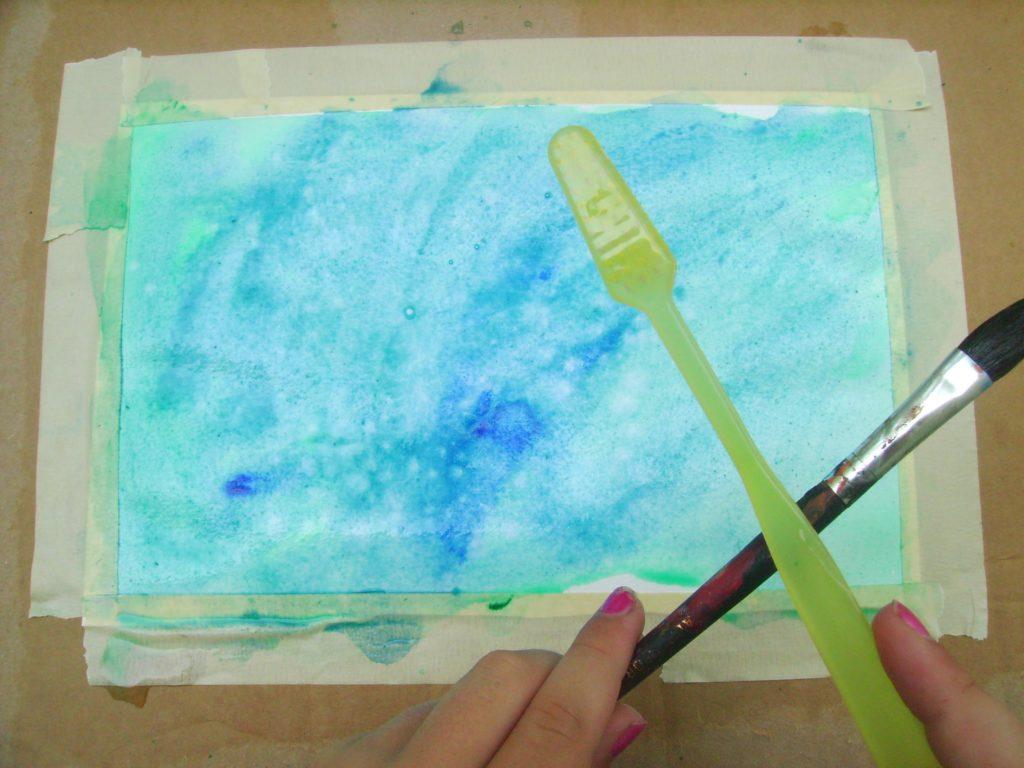 Underwater Scene in Watercolor - Part 1 - Art Starts for Kids