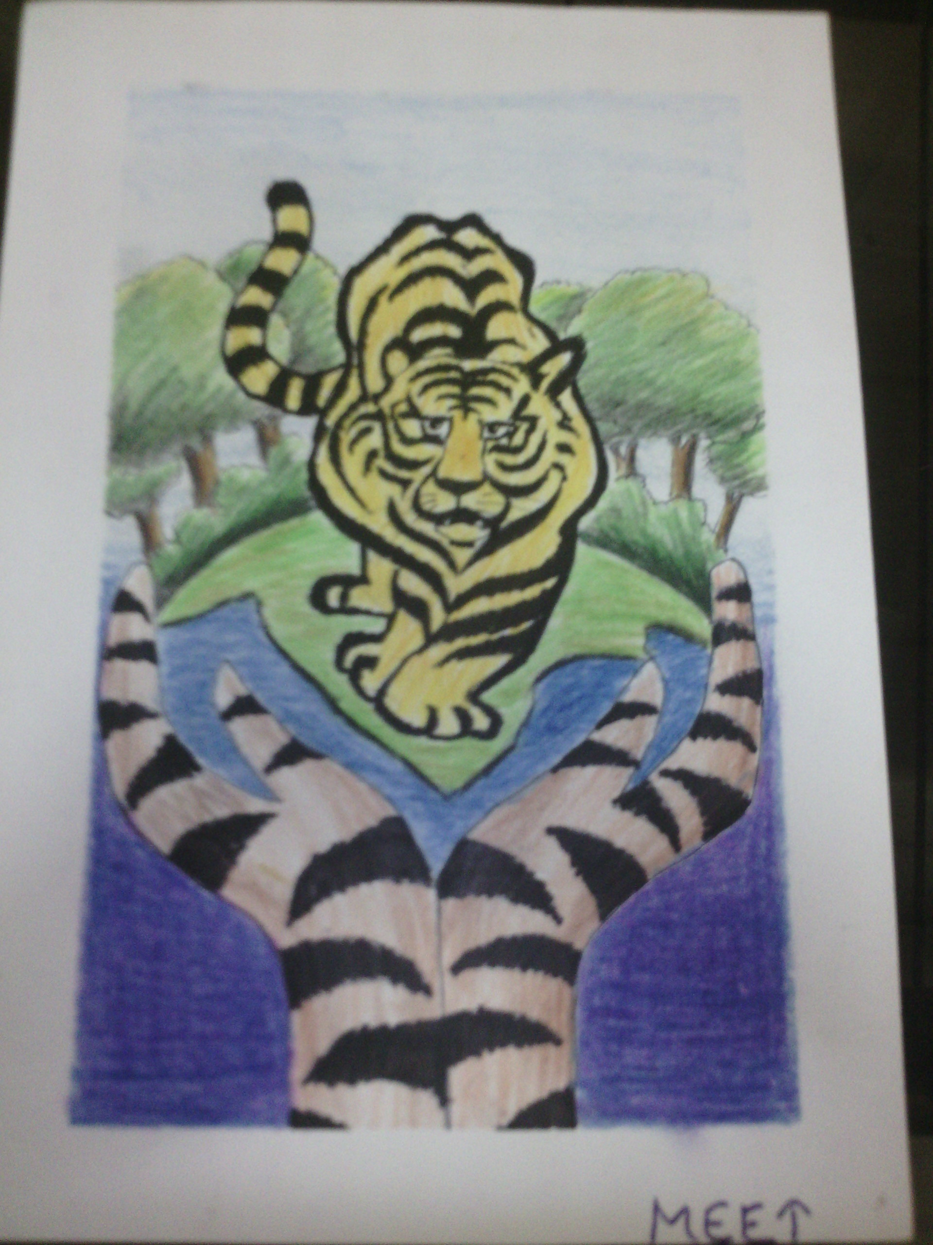 Your Art Environment And Save Tiger Art Starts For Kids