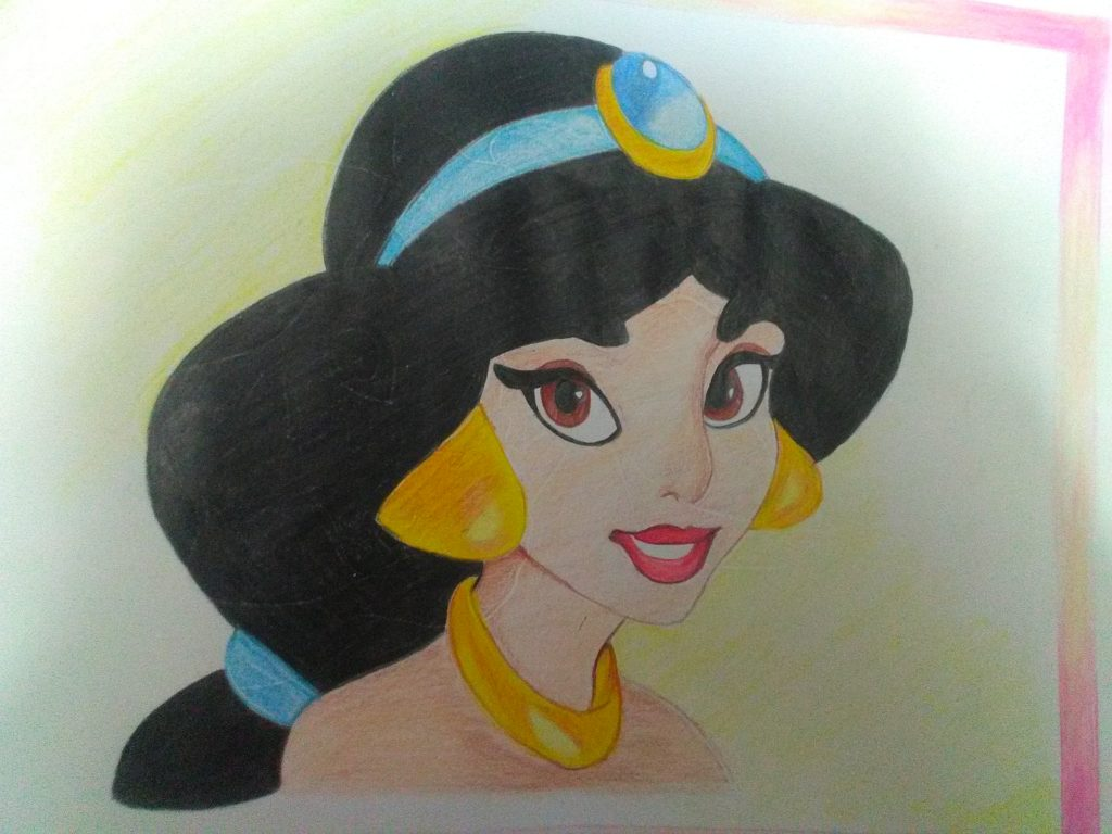 My art title is pencil sketch theme is on adorable disney princess beauty belle and jasmine