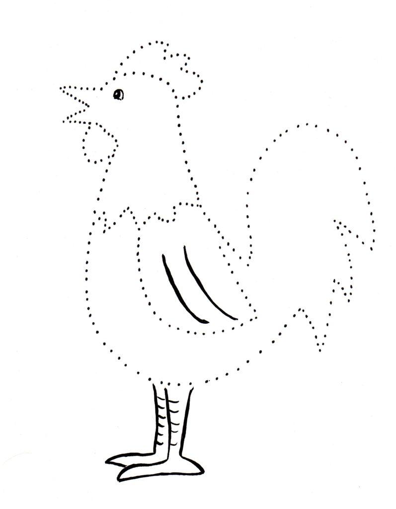 Dot Drawings - Samantha Bell Flamingo Outline