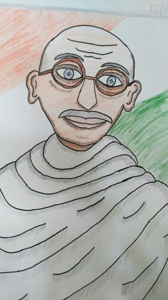 Gandhiji Art Starts For Kids