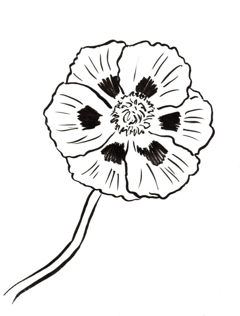 Poppy Coloring Page Art Starts for Kids