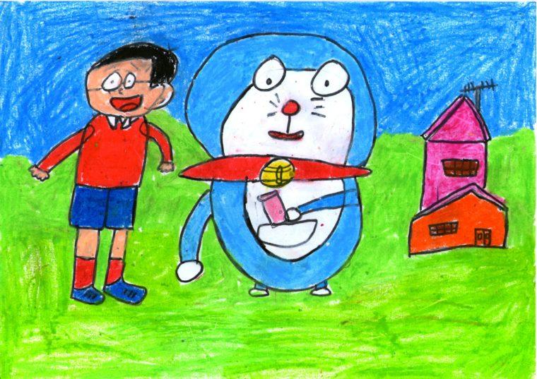Doraemon And Nobitha Art Starts For Kids