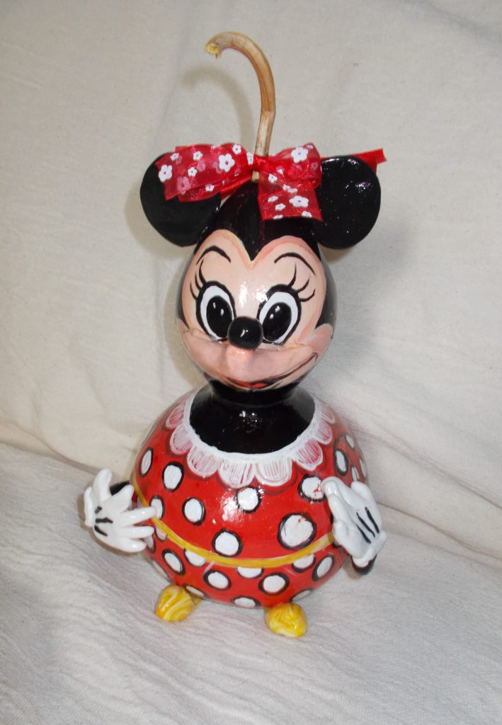 Minnie Mouse Gourd Art Starts