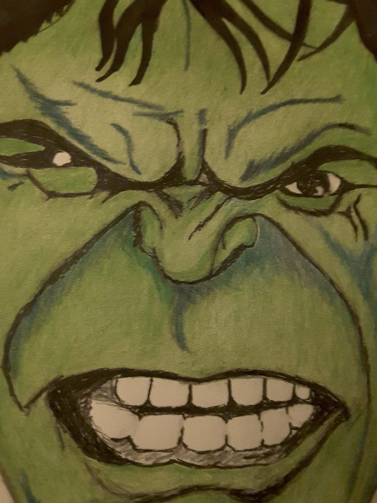 Hulk Smash Art Starts For Kids