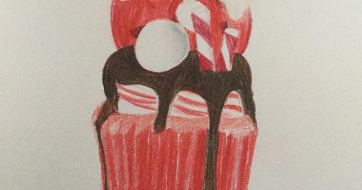 Candy Cane Freakshake Cupcake Art Starts For Kids