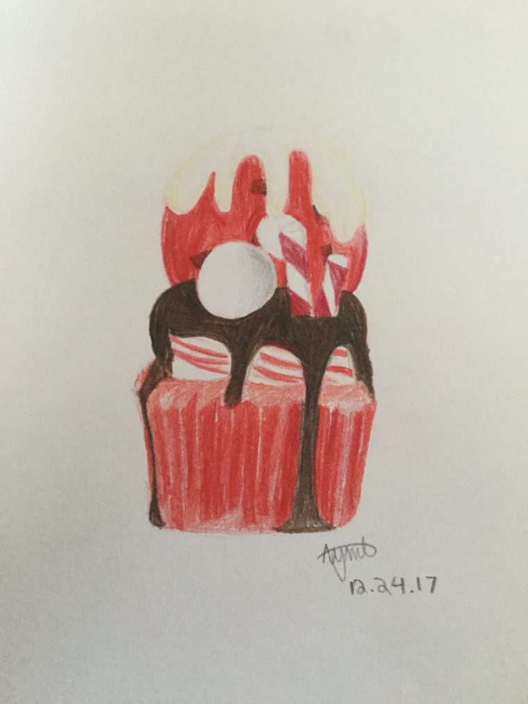 Candy Cane Freakshake Cupcake Art Starts For Kids