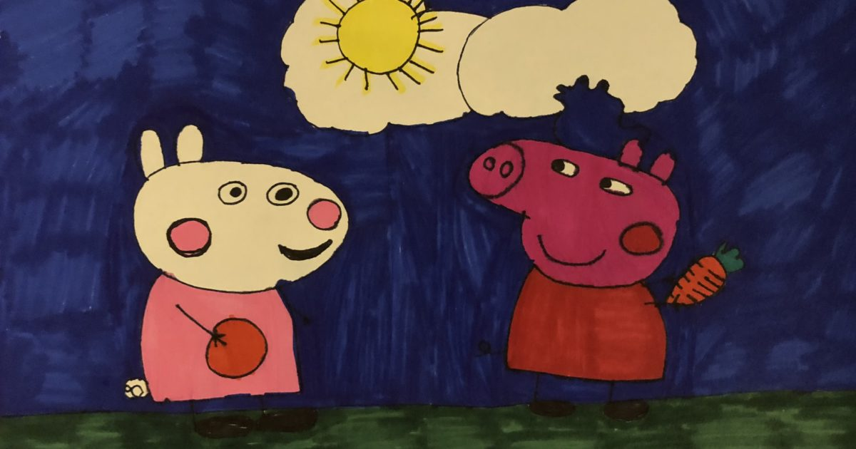 Suzy Sheep and Peppa Pig on the