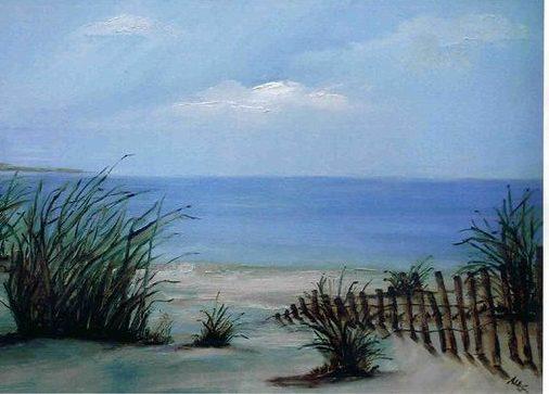 painting beach scene samantha bell