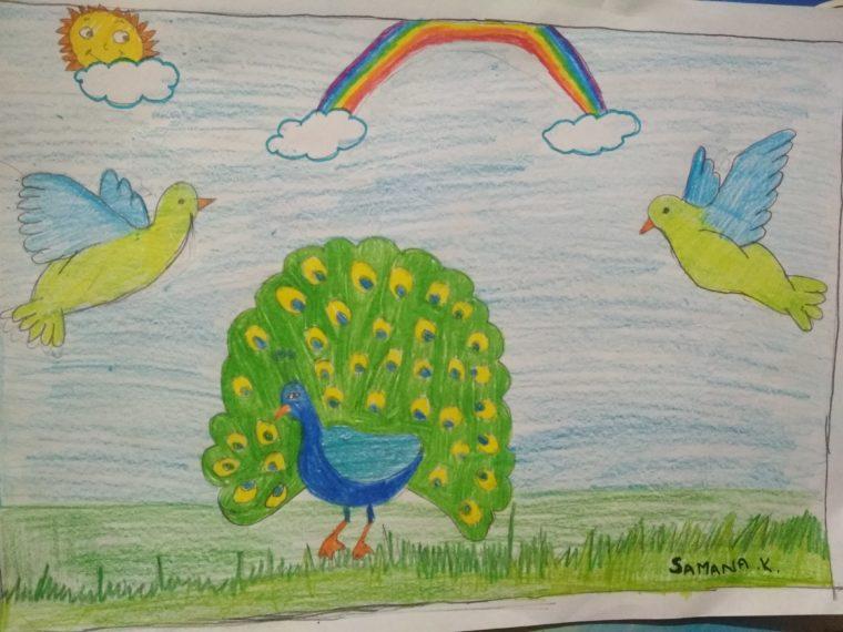 Peacock dance - Art Starts for Kids