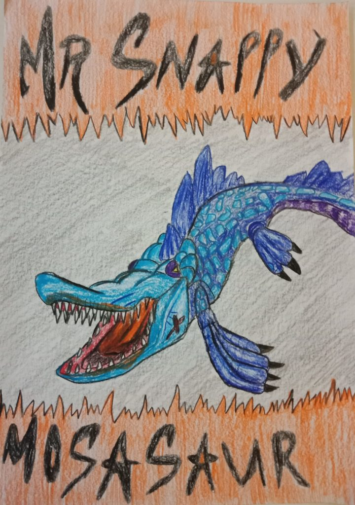 Mr Snappy Mosasaur Art Starts For Kids