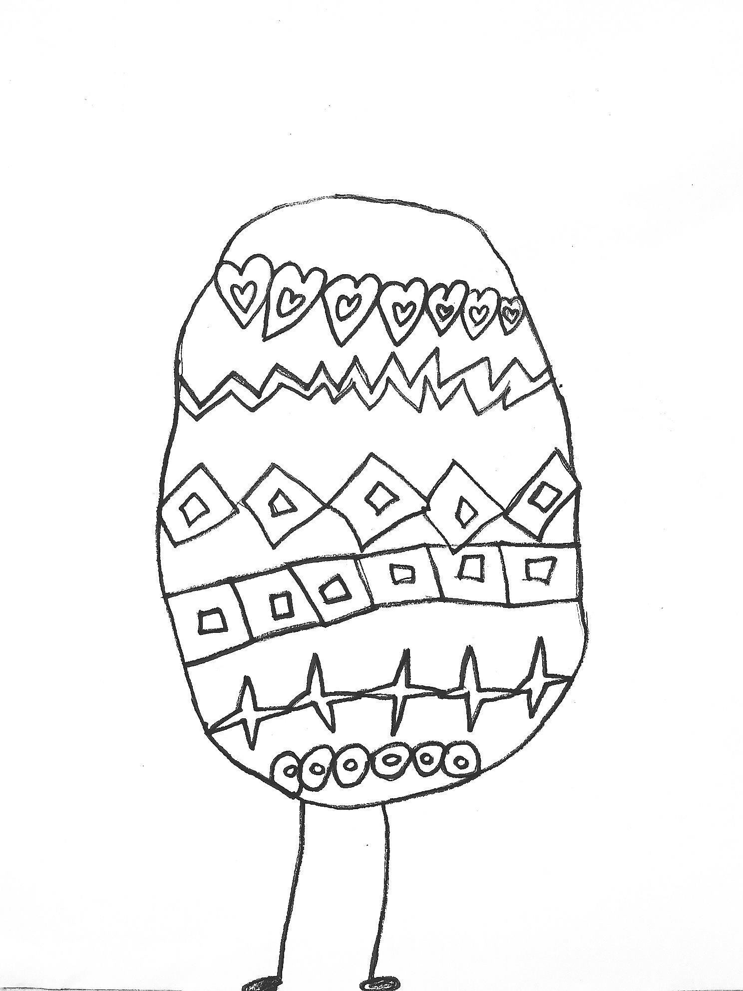 Easter Egg Coloring Page - Art Starts for Kids